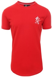 Gym King Salsa Red Longline Fitted T-Shirt