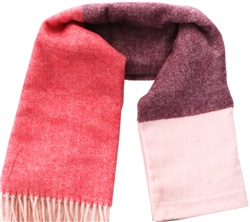 Pieces Peachskin Long Patch Wool Scarf