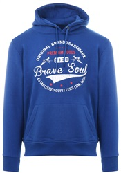 Brave Soul Cobalt Blue Campus Pull Over Hoodie