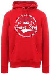 Brave Soul Red Campus Pull Over Hoodie