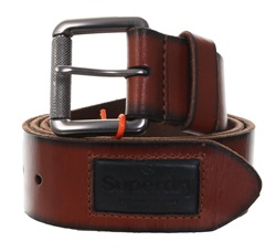 Buffalo Tan Badgeman Belt In A Box by Superdry