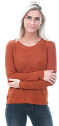 Only Orange / Picante Geena Solid Knitted Pullover
