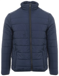 Brave Soul Navy Moritz Padded Zip Up Jacket