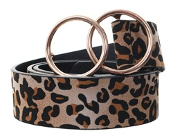 Impulse Tan Leopard Print Belt