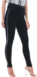 Threadbare Black Mirror Side Stripe Jean