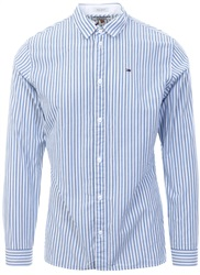 Hilfiger Denim White Essential Smart L/Sleeve Shirt