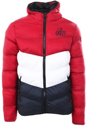 Bee Inspired Red/White/Navy Knox Puffer Jacket