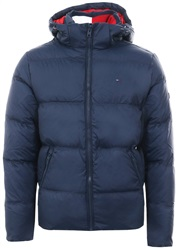 Hilfiger Denim Black Iris Hooded Parka Padded Jacket