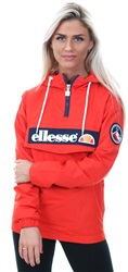 Ellesse Scarlet Red Mont 2 Over Head Jacket
