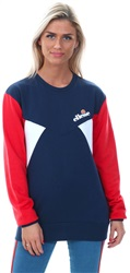 Ellesse Navy Valesia Crew Contrasting Panel Sweat
