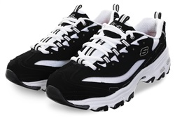 Skechers Black/White DLites - Biggest Fan Trainers
