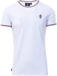 Gym King White/Red Signature Tipped T-Shirt