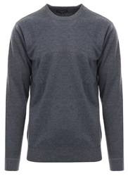 Brave Soul Grey Mix Percy Knitted Crew Sweater