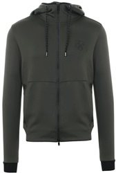Siksilk Khaki Agility Zip Through Hoodie