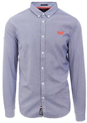Superdry Royal Mini Grid Check Premium Button Down Shirt
