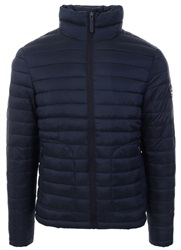 Superdry Navy Fuji Double Zip Up Padded Jacket