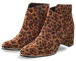 Marco Tozz Brown Leopard Print Boot