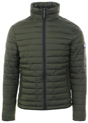 Superdry Olive Fuji Double Zip Up Padded Jacket