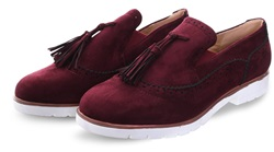 No Doubt Bordeaux Tassel Suede Brogue
