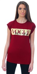 Parisian Wine Vogue Print Short Sleeve T-Shirt