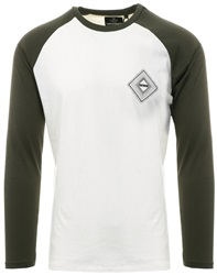 Threadbare Ecru Contrasting L/Sleeve T-Shirt