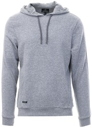 Threadbare Grey Pullover Fleece Tape Hoodie