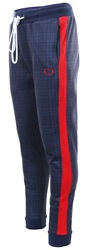 Criminal Damage Navy Side Tape Tartan Jogger