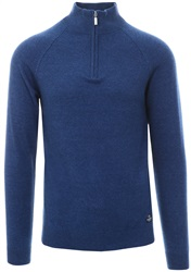 Holmes & Co Indigo 1/4 Zip Knit Sweater
