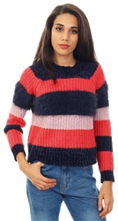 Only Cayenne Joelle Striped Knit Pullover