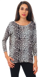 Only Stone Leopard Print Long Sleeve Top