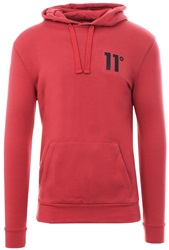 11degrees Mineral Red Core Pull Over Hoodie