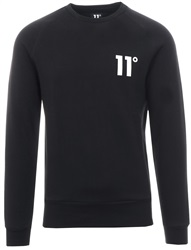 11degrees Black Core Pullover Crew Sweatshirt