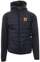 11degrees Navy Hybrid Zip Up Padded Jacket