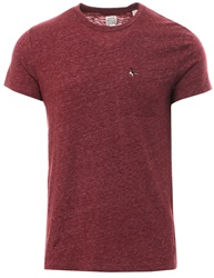 Jack Wills Burgandy Ayleford Damson S/Sleeve T-Shirt