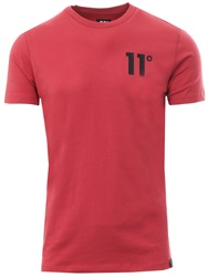 11degrees Red Core Fitted Crew S/Sleeve T-Shirt