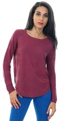 Only Purple Caviar Curved Hem Pullover