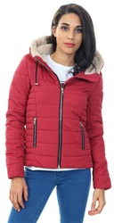 Only Scooter Red Shelly Short Quilted Jacket
