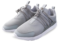 11degrees Grey/White Halo Lace Up Trainer