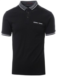 Kensington Black Marybank Short Sleeve Polo Shirt