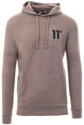 11degrees Beige Core Speckled Pull Over Hoodie