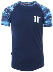 11degrees Water Colour Camo Raglan S/Sleeve T-Shirt