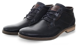 Bull Boxer Navy Ankle Boot Lace Up Shoe