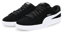 Puma Black Court Breaker Derby Lace Up Trainer