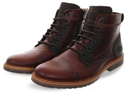 Bull Boxer Brown Side Zip Up Ankle Boot