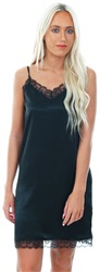 Jdy Black Fun Lace Trim Silk Short Dress
