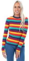 Brave Soul Multi Ribbed Stripe Fitted Sweater