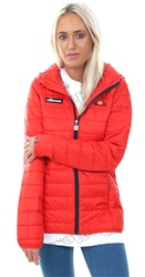 Ellesse Red Lompard Padded Zip Up Jacket