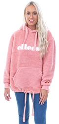 Ellesse Pink Teddy Grattini Pull Over Hoody