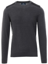 Holmes & Co Charcoal Round Neck Knitted Sweater
