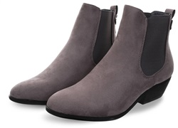 Krush Grey Suede Slip On Ankle Chelesa Boot